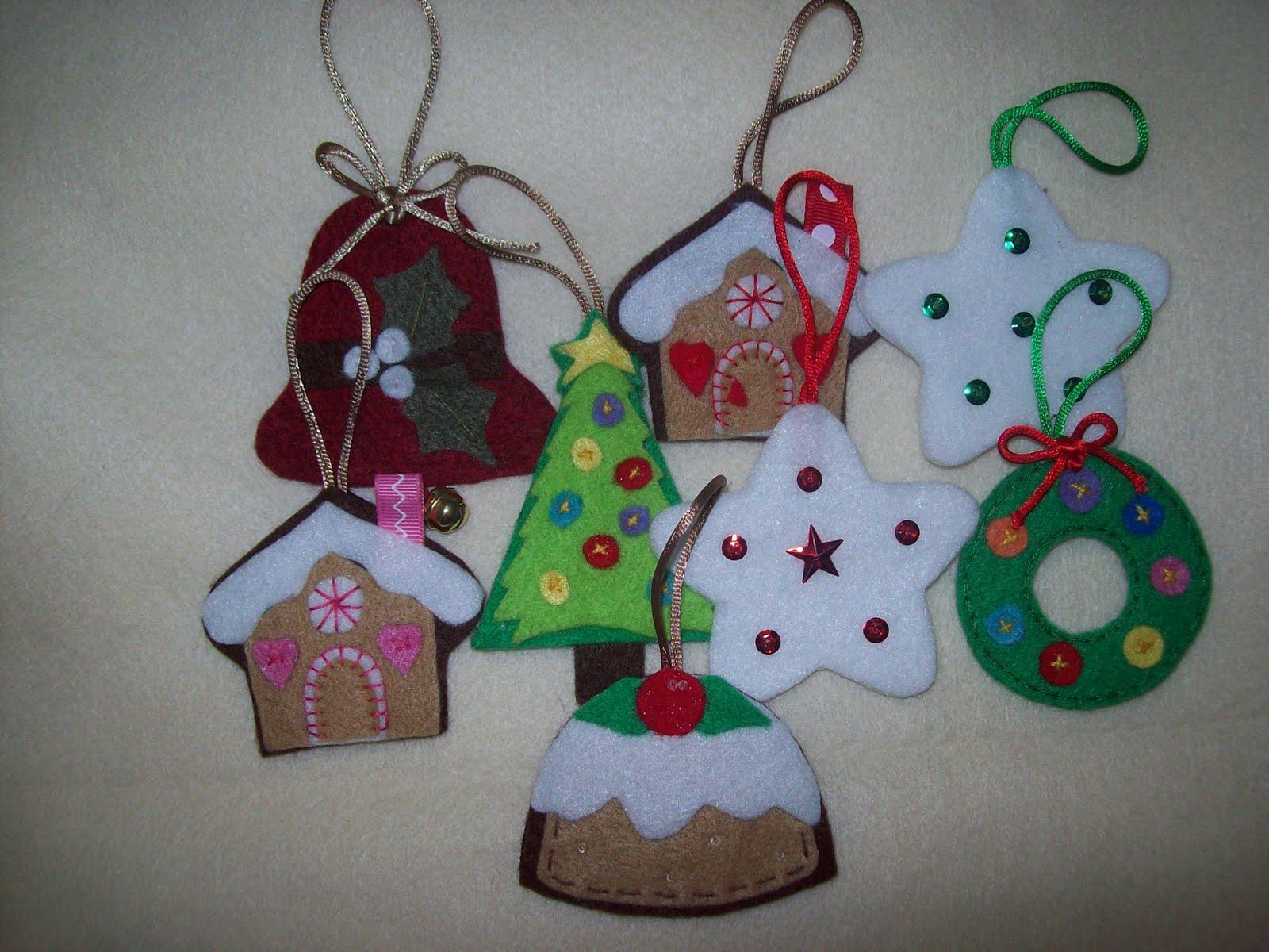 adornos para arbol de navidad de fieltro