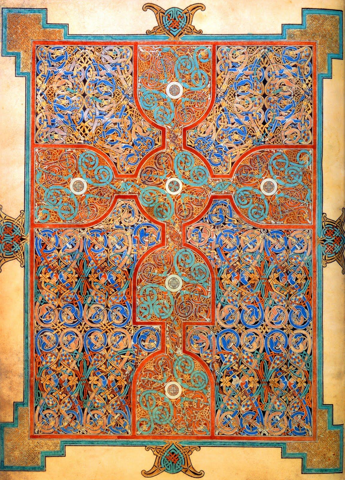 Monstrous Beauty Carpet Page Lindisfarne Gospels