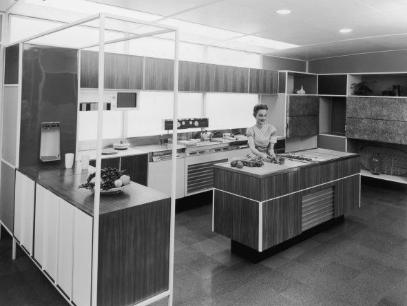 david restorick interiors: Nineteen 1950s Decorating topic bedrooms - Maries Manor: 50s bed room ideas - 50ss From The 1950s Latest Home Interior Design - Fifties Kitchens