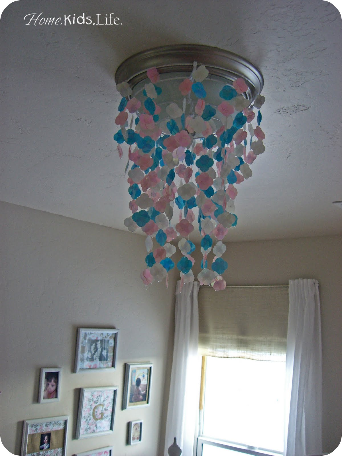 Home. Kids. Life.: DIY Faux Capiz Light Cover