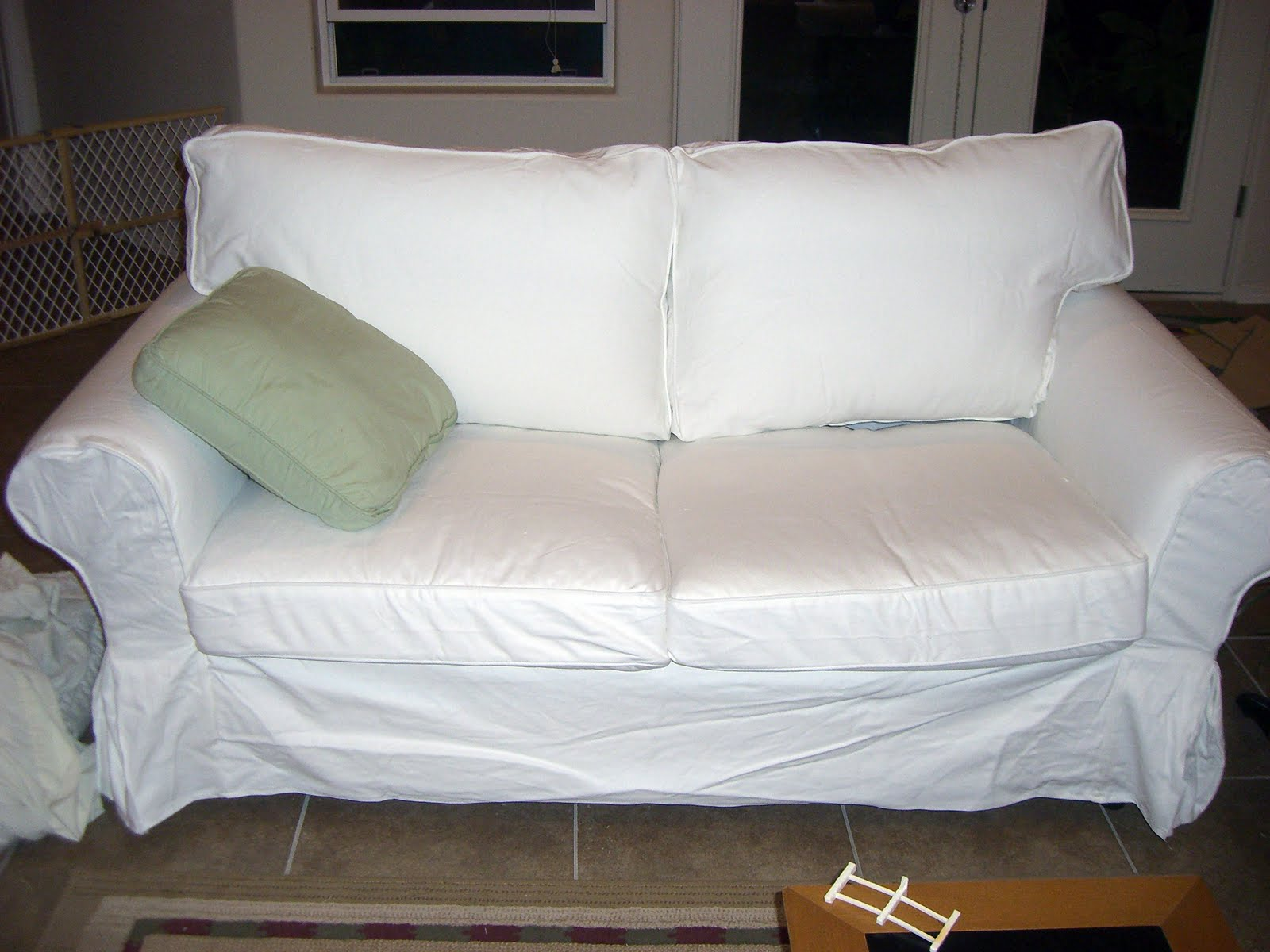 Couch Cover Sofa Home Kids Life Ikea Ektorp Wash Review