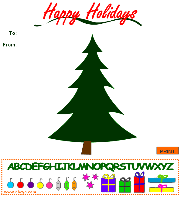 Abcya Christmas Tree: Play And Learn With Critter