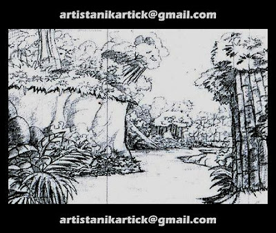 BACKGROUND SKETCHES,BACKGROUND DRAWINGS,PENCIL SKETCHES,PENCIL - background sketches