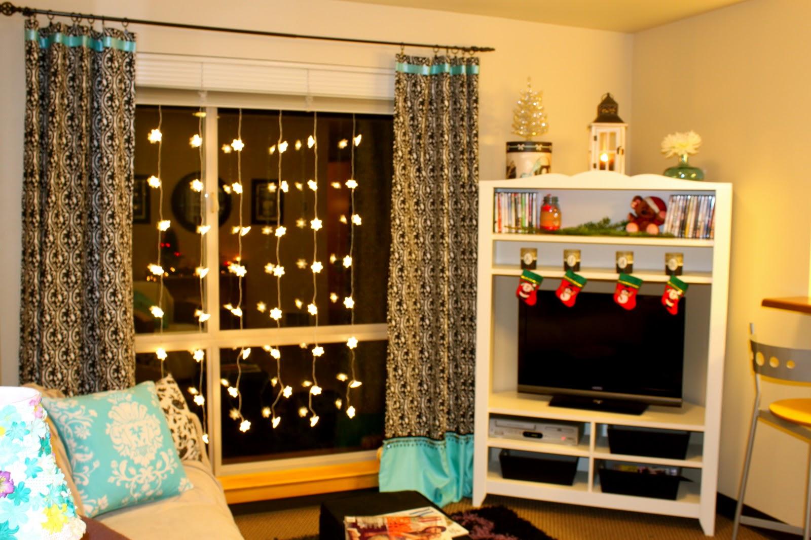 Christmas Mantel College Apartment Version Michaela
