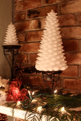 Mantel Pine Cones Noel Snow Michaela Noelle Designs