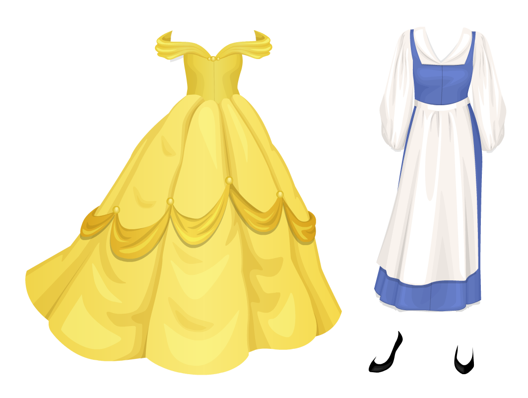 Anarchy On Stardoll: Beauty And The Beast & Free Skirt