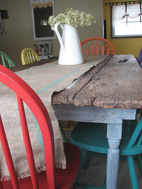 Old Barn Door Recycled into Kitchen Table  Remodelaholic