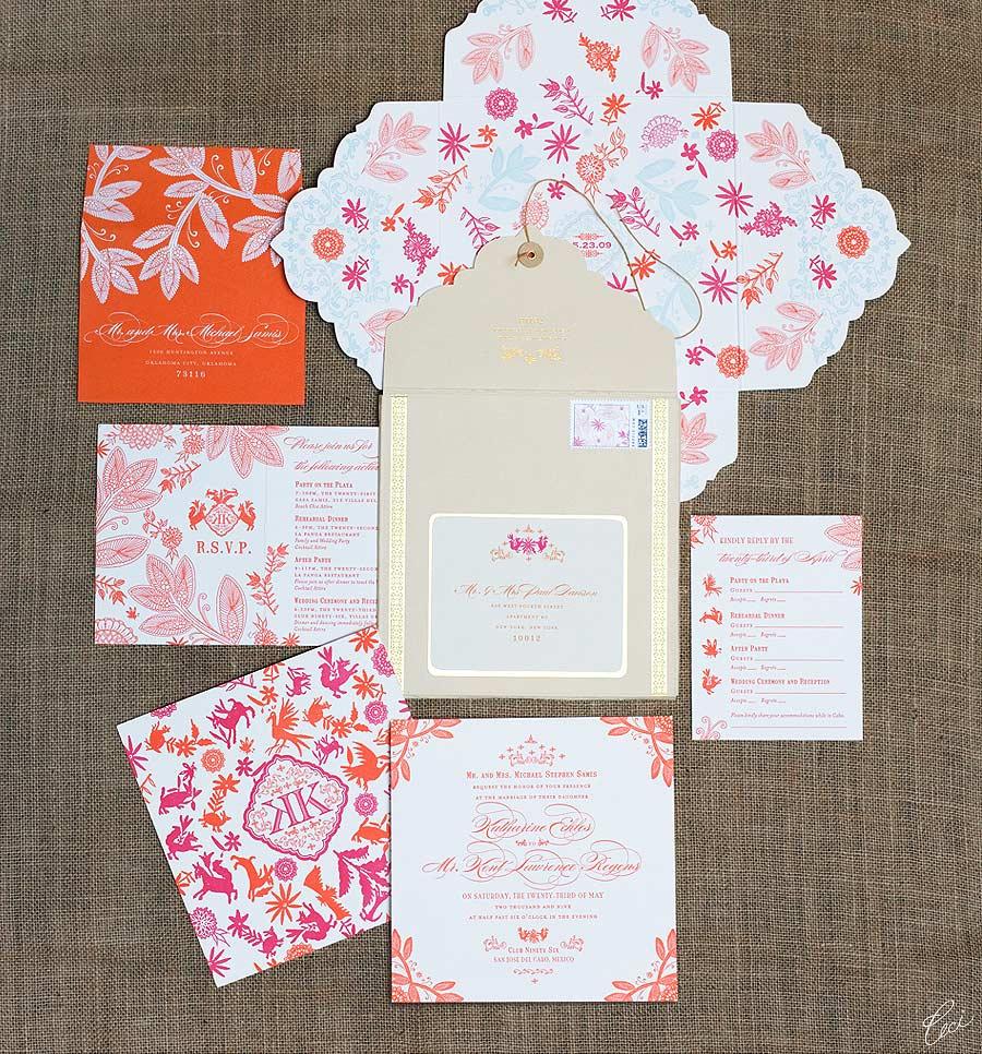 mexican destination wedding invitations ceci style destination wedding invitations Mexican Destination Wedding Invitations Ceci Style
