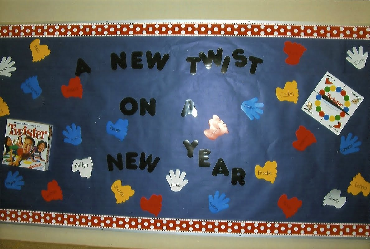New Twist On A New Year This Was The. 1189 x 800.Happy New Years Bulletin Boards