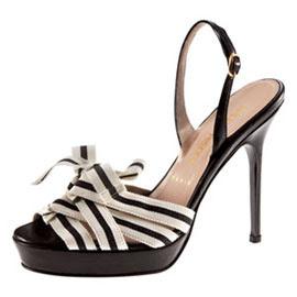 Black Strap Stiletto Argentinian Shoe Pic Italian