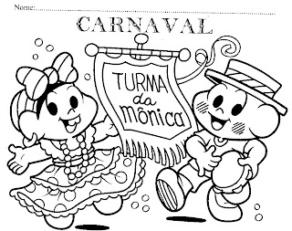 Desenhos Diversos Desenhos Da Turma Da Monica Carnaval