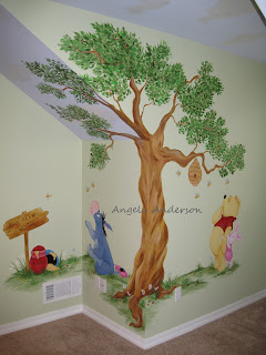 Angela Anderson Art Blog Finished Pooh Mural