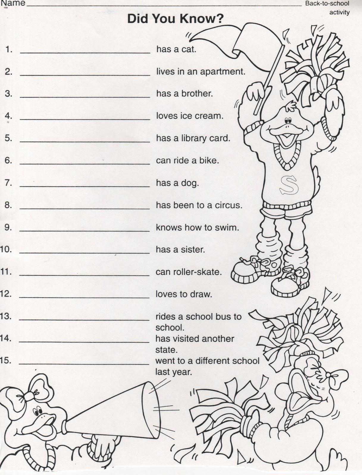 Elementary School Enrichment Activities Beginning Of The
