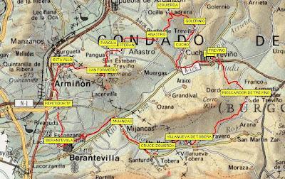 Condado De Treviño Mapa.Por Alava Y Mas Vuelta Por El Condado De Trevino