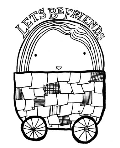 Memo Illustration: Big Team Scribble colouring book