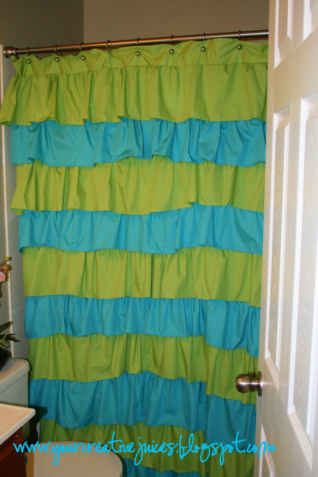 Creative Juices My 900 Ruffle Shower Curtain