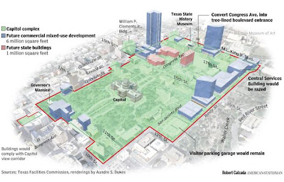 Map Of Texas Capitol.Austin Texas New Vision For Capitol Complex Urban Transport
