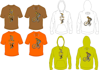 Mountain Bike Downhill T-shirt and Hoodie