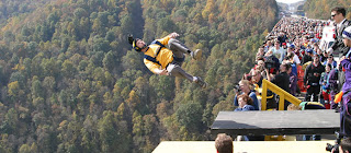 Base Jumping at New River Gorge