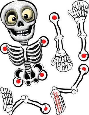 Origami n 39 stuff 4 kids halloween skeleton for Skeleton template to cut out