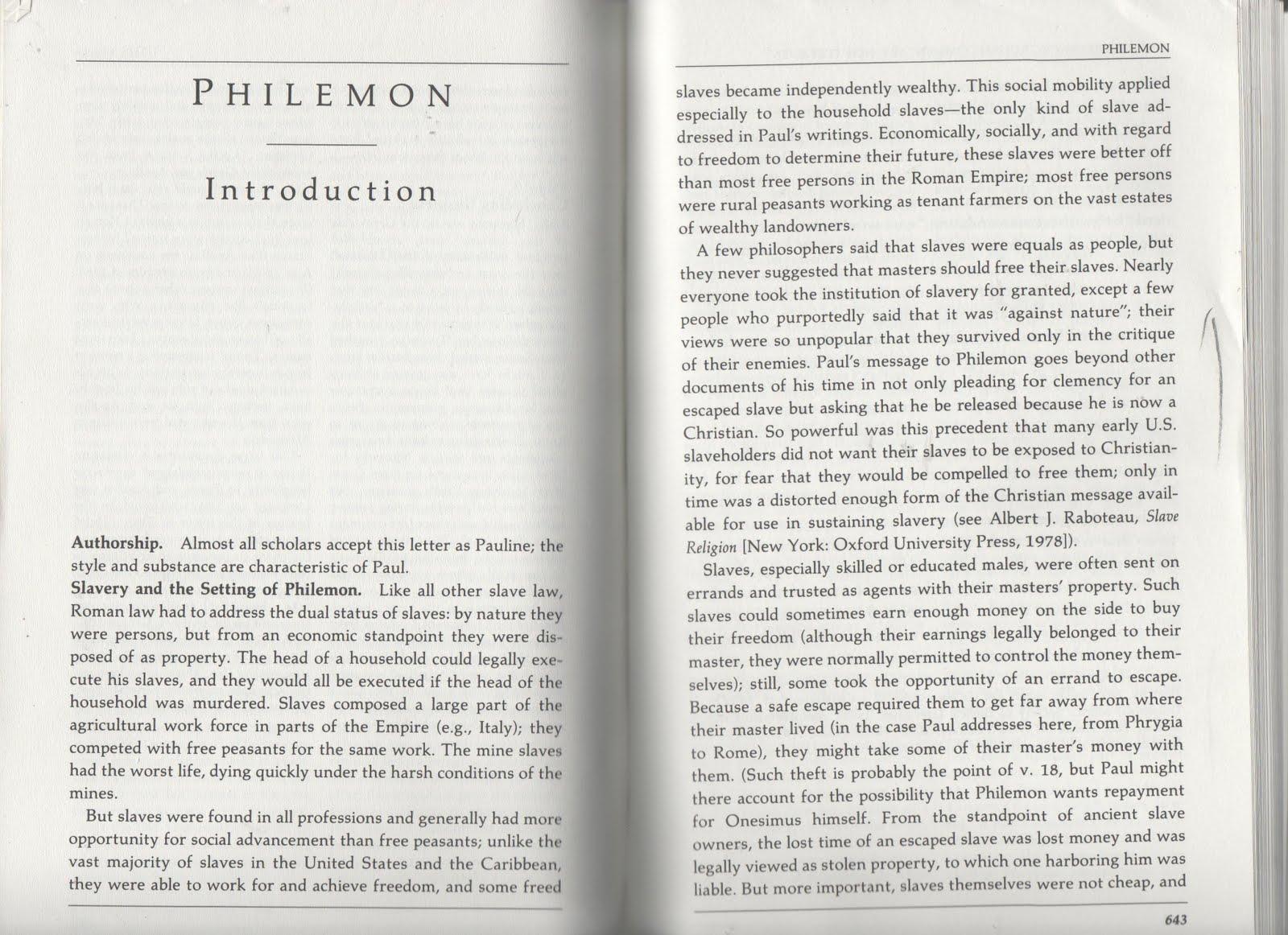 BIB 451 Fall 12: Philemon help