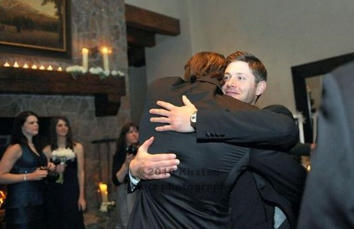 More Pictures From Jared Padalecki S Recent Wedding To Genvieve Cortese Show An Emotional Hug Between The Bff Looks Like He Doesn T Want Let Go