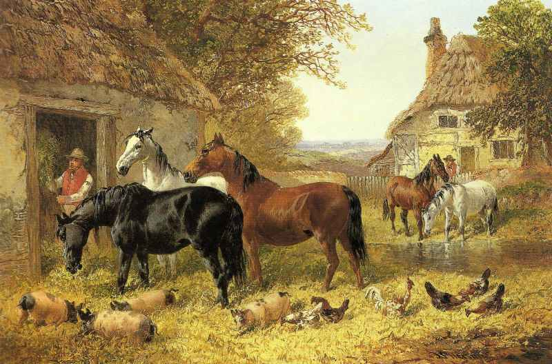 British Paintings John Frederick Herring Jnr Horses In