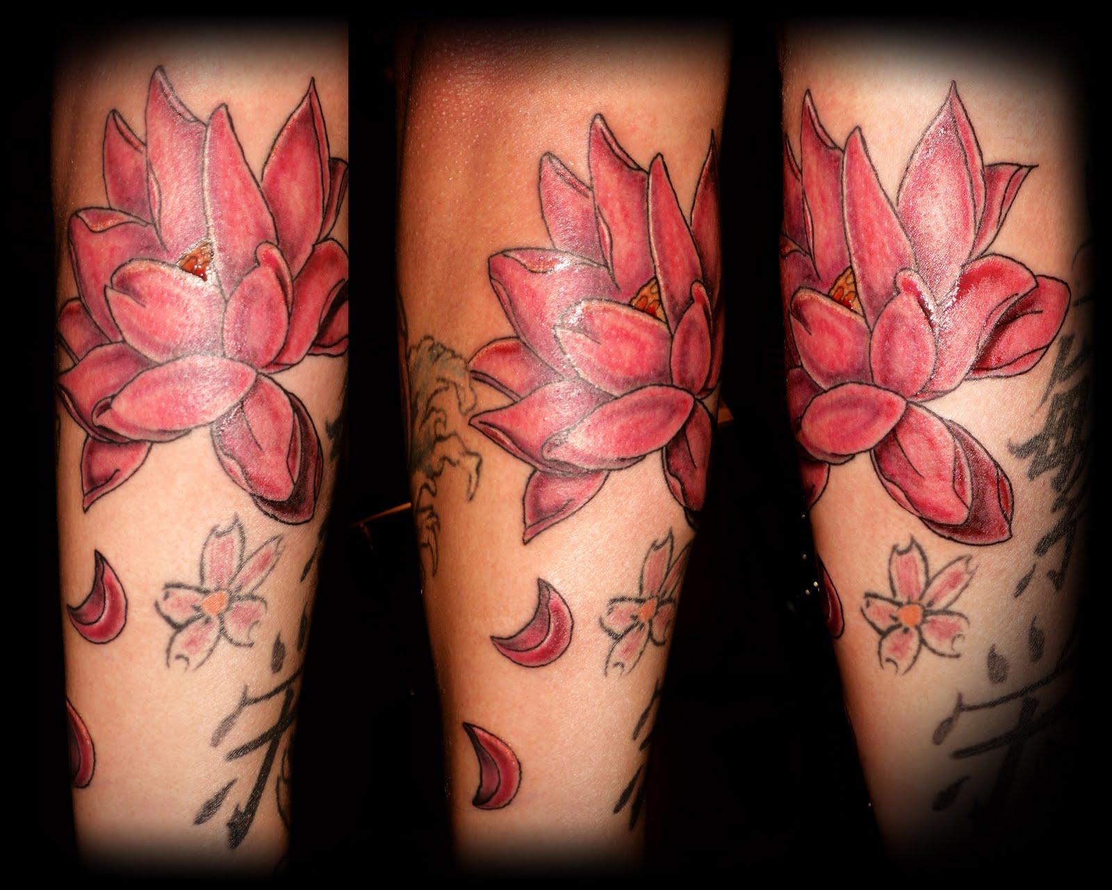 Inked138 Tattoos Lotus Flower