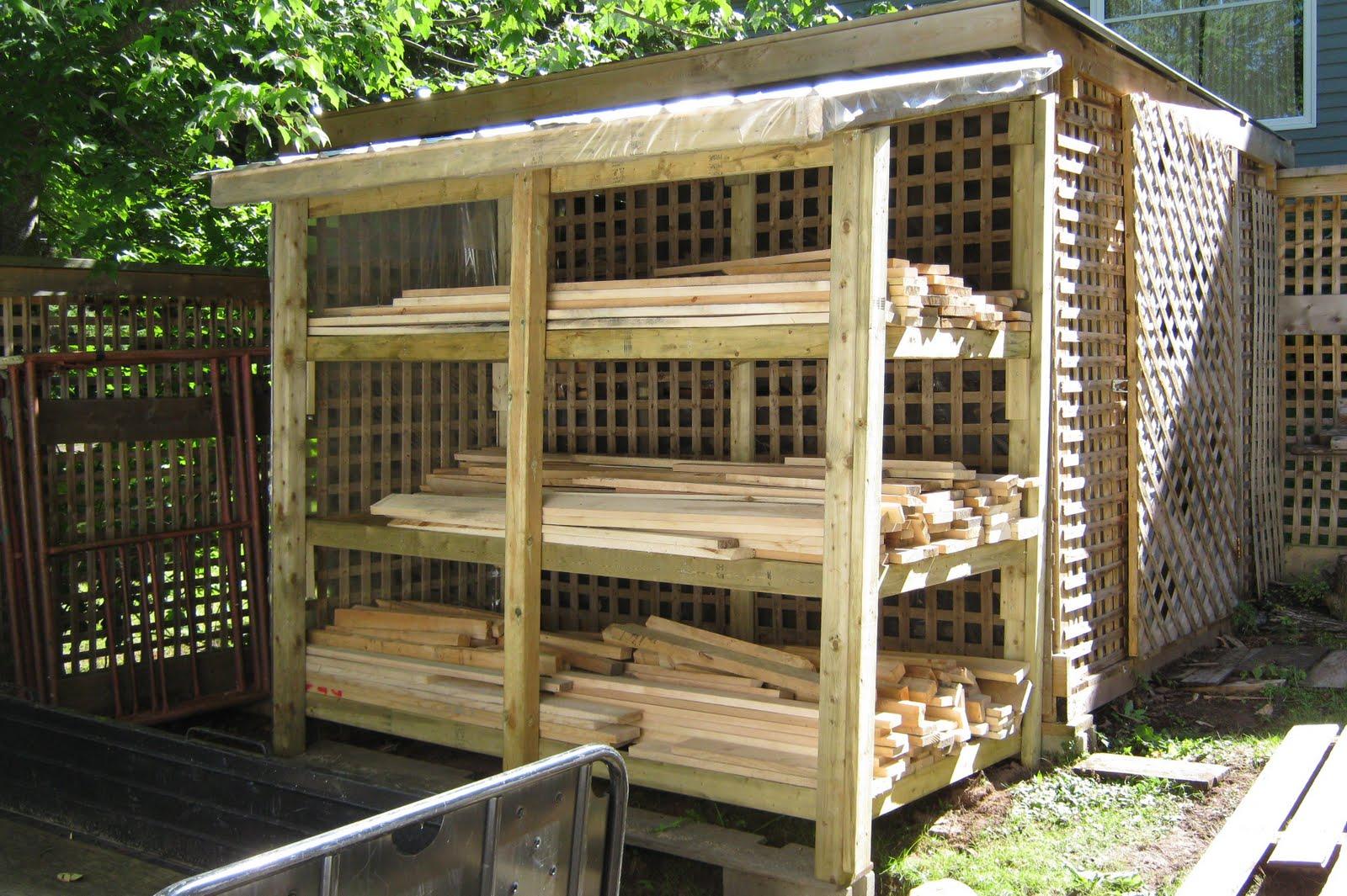 Wp Wood Working Lumber Storage Shed