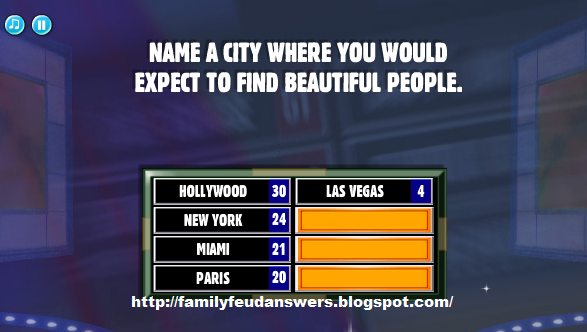 Facebook Family Feud Answers: Name a City Where You Would