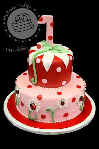 Ladybug First Birthday Smash Cake