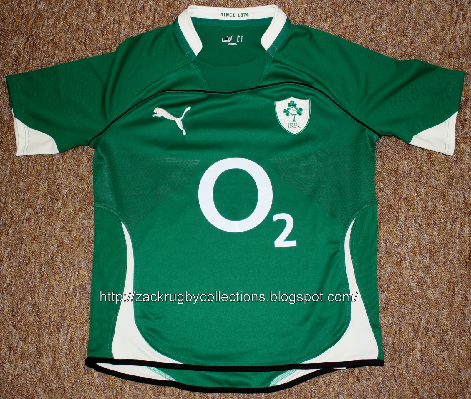1d1015ba61a ZackRugby Collections®: Ireland (IRFU) SS Pro Home 2010/2011 Rugby ...