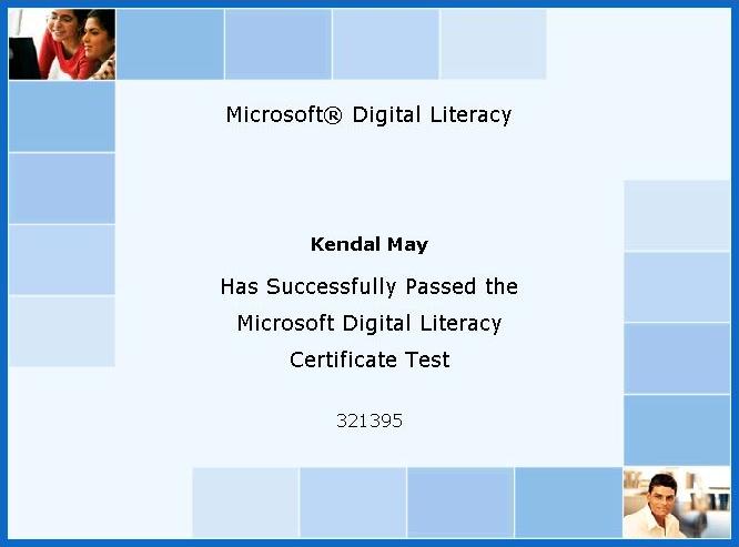 RULers Microsoft Digital Literacy Certificate