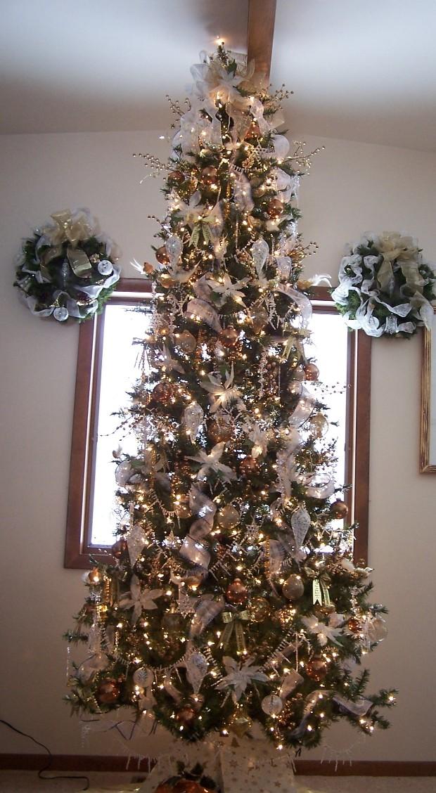 Xmas Tree With Angel Hair Www Picswe Com