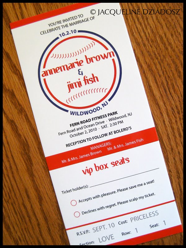Annemarie And Jimi S Baseball Ticket Invitations