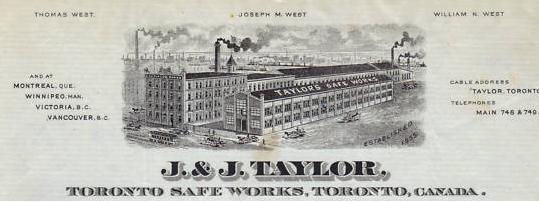 Taylor Safe Works 1885