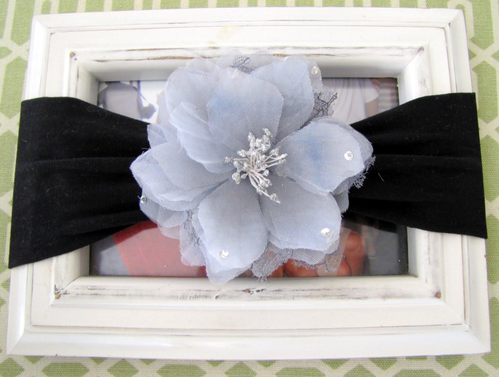 Nylon Baby Headband with Flower Clip TUTORIAL - craft - Little Miss ... 78f43e050d7