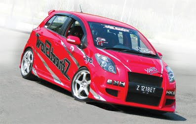 autos car modifikasi toyota yaris 2008 jamz speed street racer. Black Bedroom Furniture Sets. Home Design Ideas