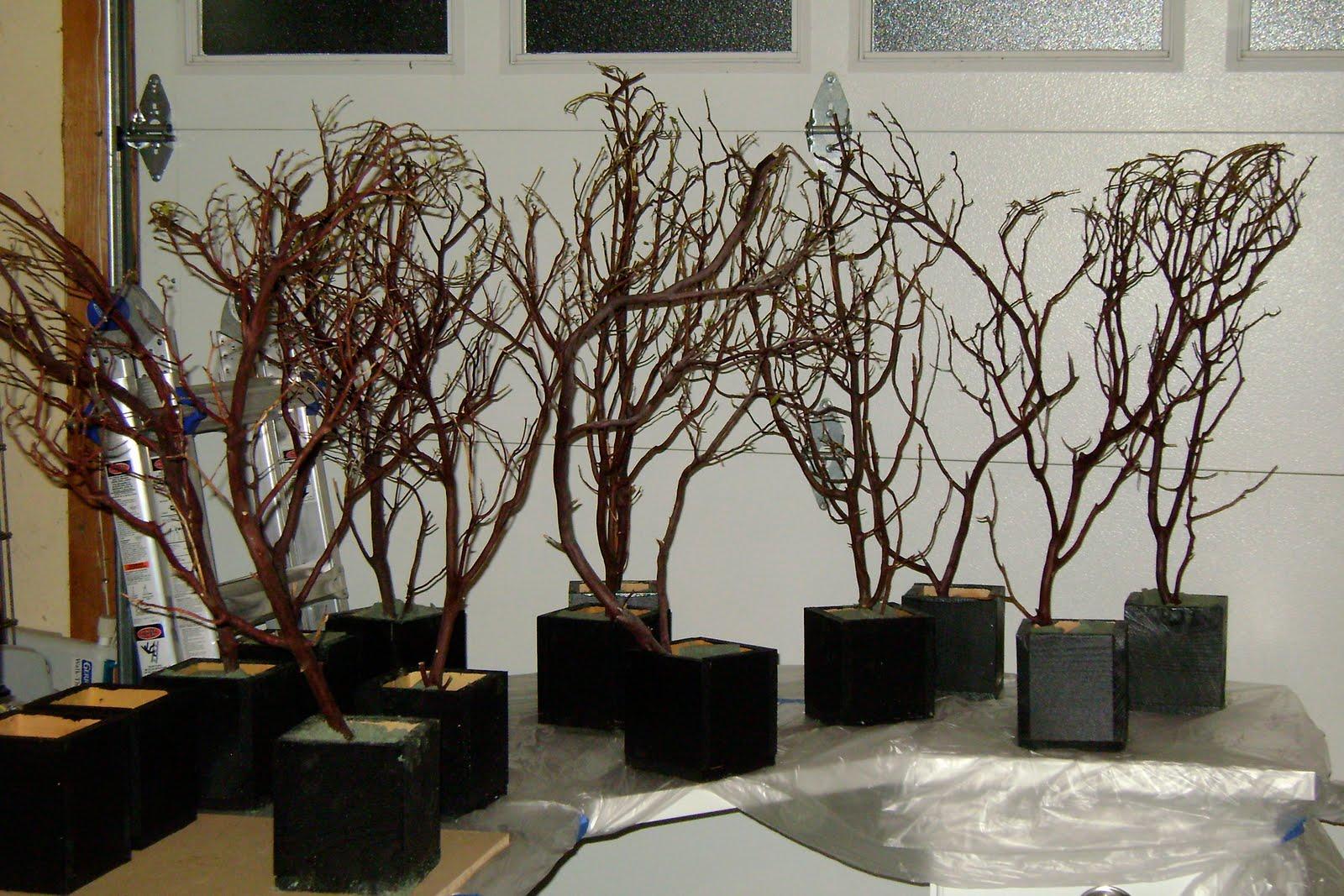 design aholic manzanita branch centerpiece decor. Black Bedroom Furniture Sets. Home Design Ideas
