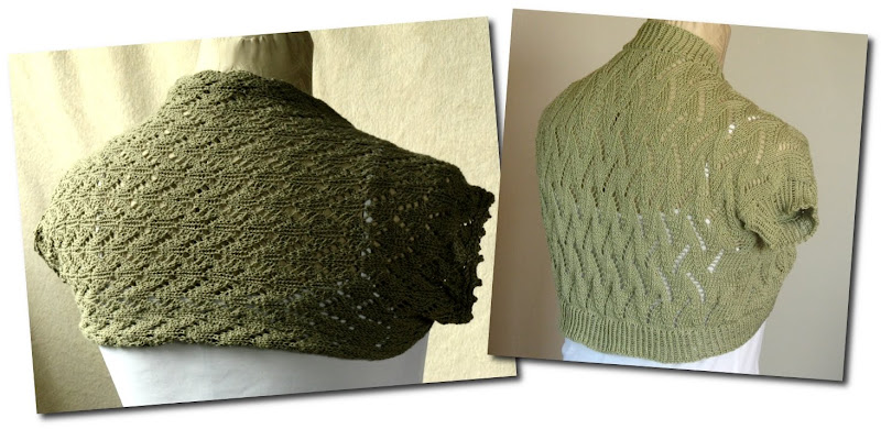 Knits and Crafts: Cotton lace shrugs