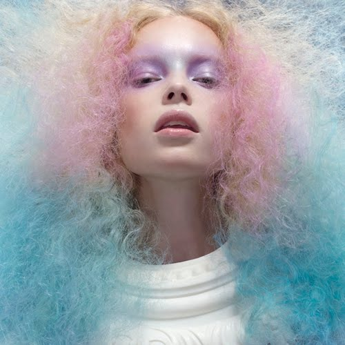 Cotton Candy Blue Hair: Haircutting In High Heels: Cotton Candy + Color