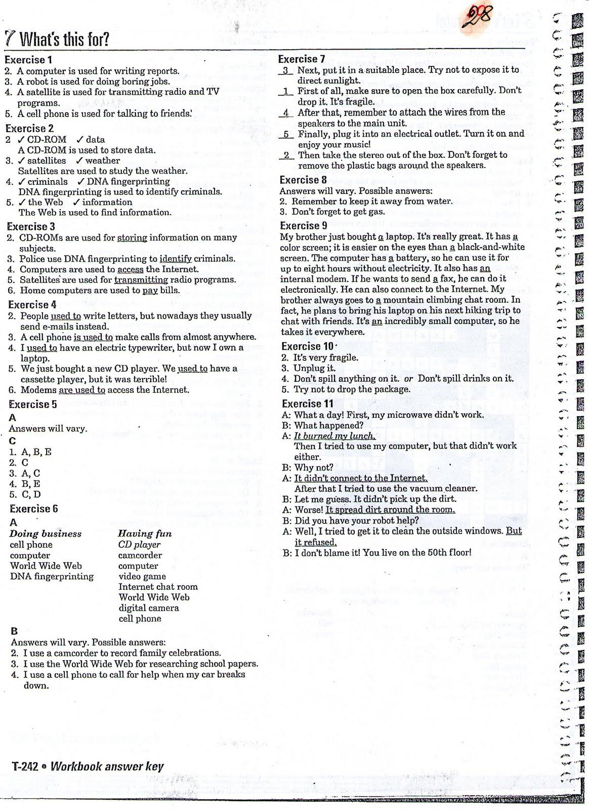 Workbooks answers to spanish 2 workbook : Interchange 2 (English Textbook): agosto 2010