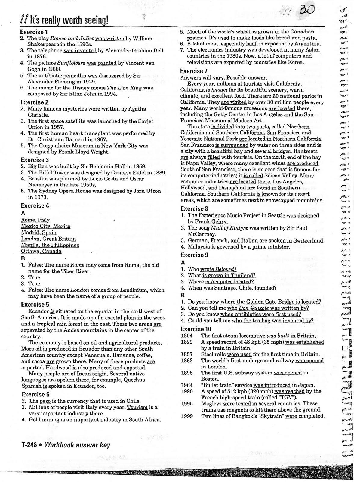 Workbooks spanish 3 workbook answers : Interchange 2 (English Textbook): septiembre 2010