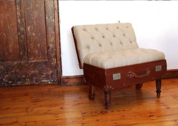 Hey, Lady Grey Recycled Vintage Suitcase Furniture
