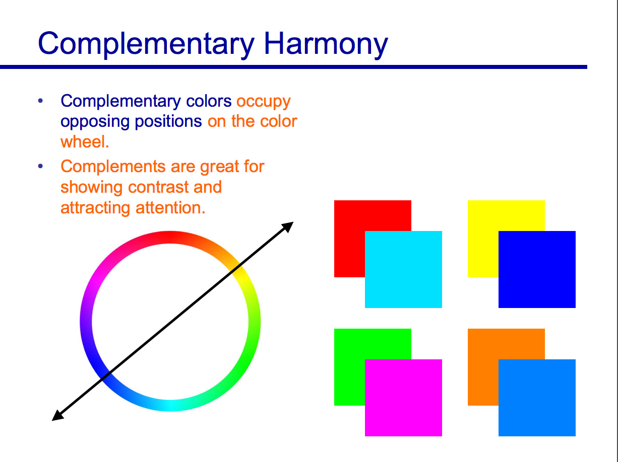 Two Colors Are Complementary If They Occupy Opposite Positions On The Color Wheel This Is Best Way Of Showing Contrast And Drawing Attention To A