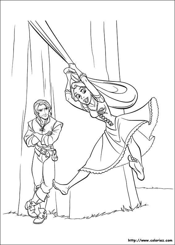 Princesa Rapunzel Da Disney Para Colorir Desenhos