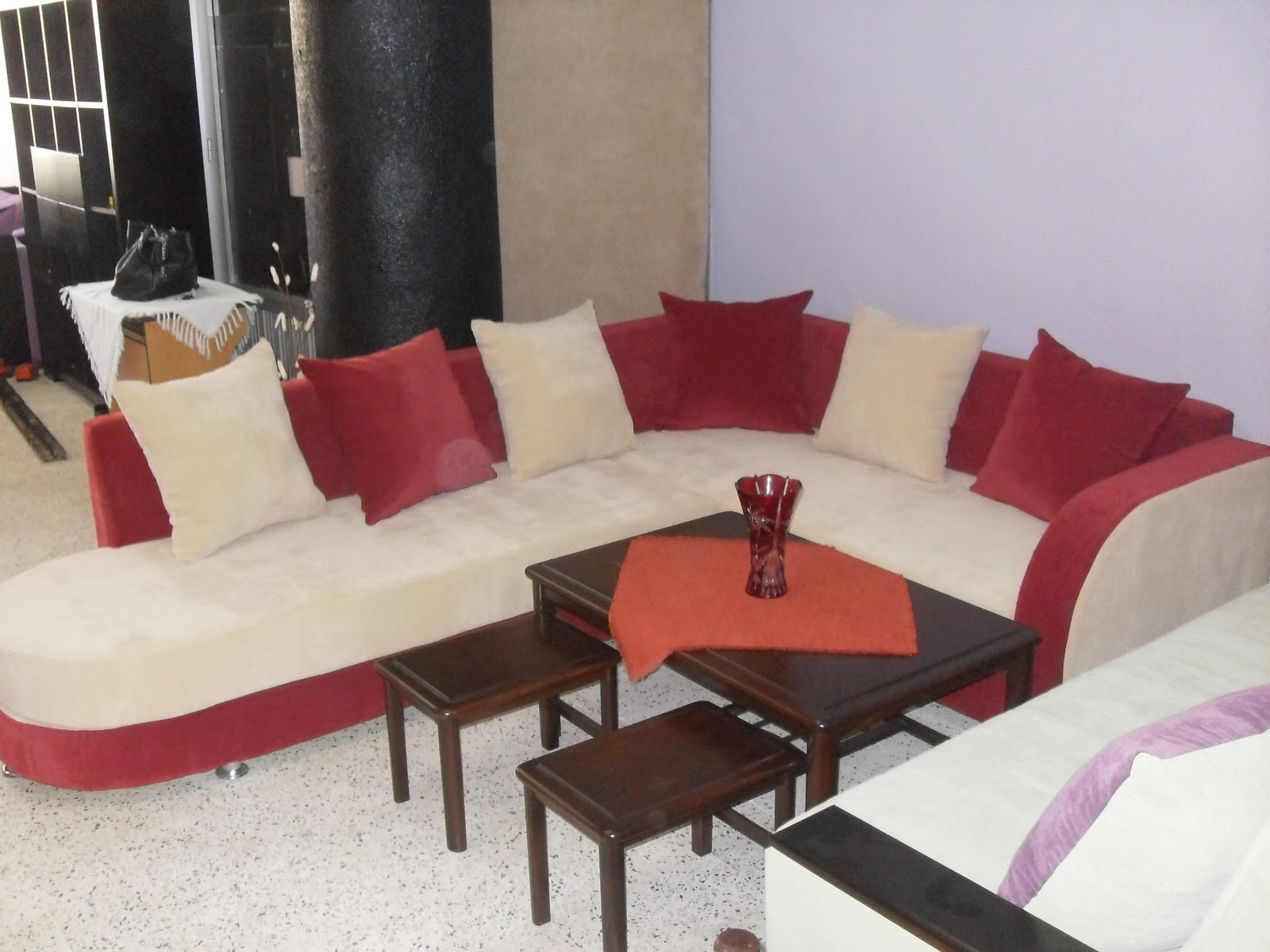 Parfait Salon Beige Et Rouge Maison Design Wiblia