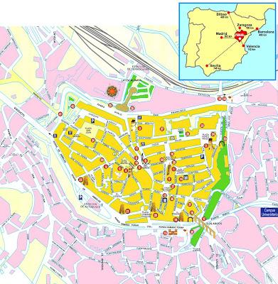 Mapa De Teruel Capital.La Vaquilla Del Angel De Teruel Mapas