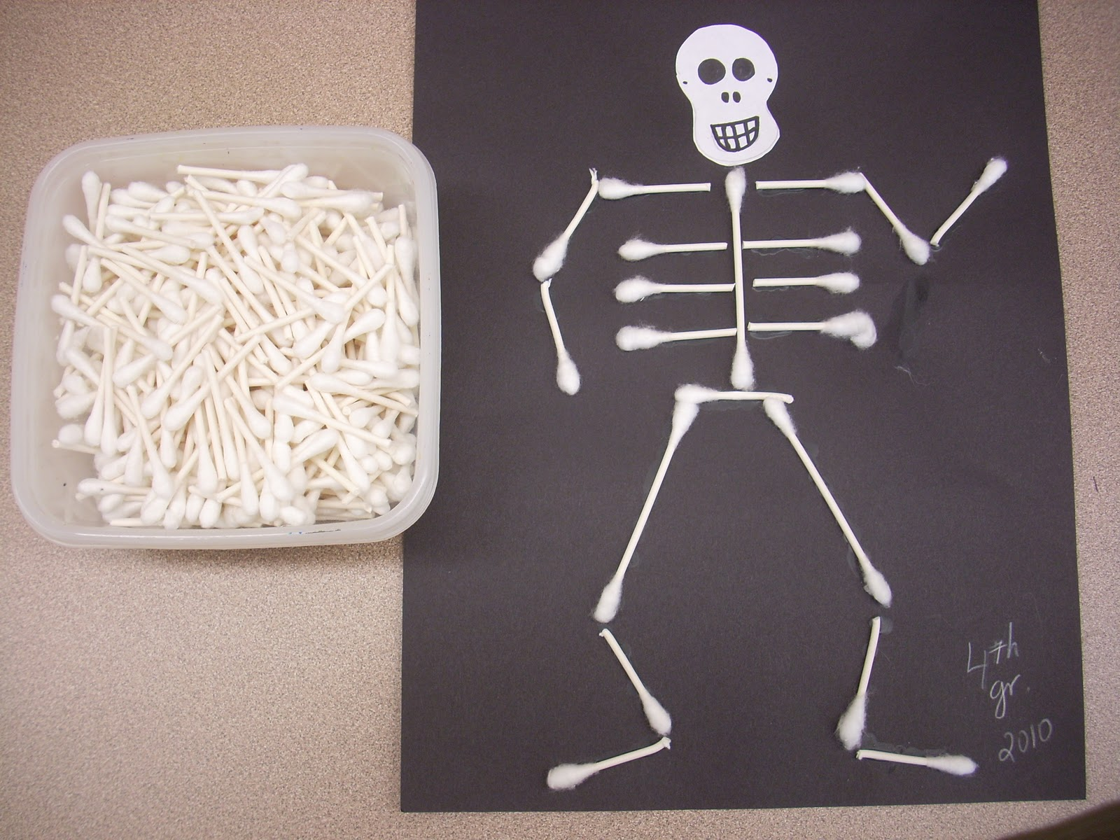 Halloween Art Projects Skeleton Craft And Skeleton Art