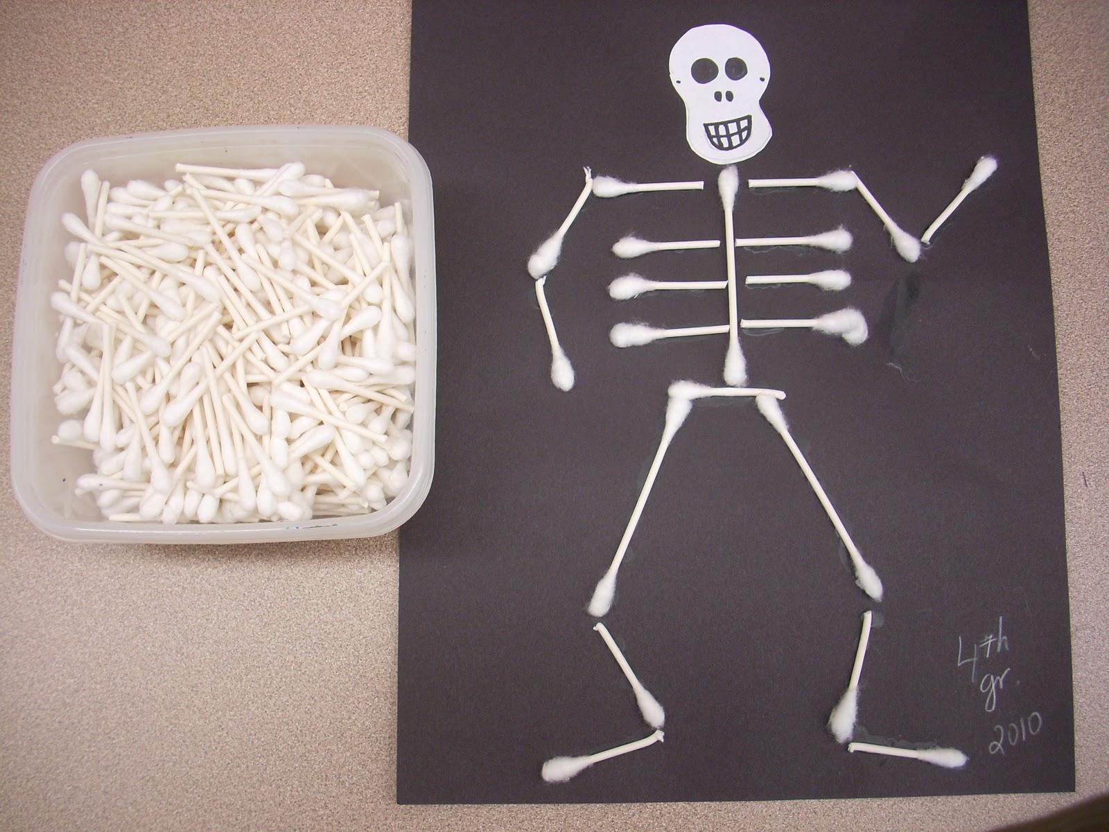 Halloween Art Projects Skeleton Craft And Skeleton Art